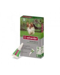 Advantix 4 pipetas - Hasta 4 kilos