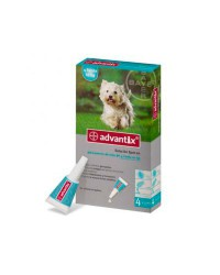 Advantix 4 pipetas De 4-10 kilos