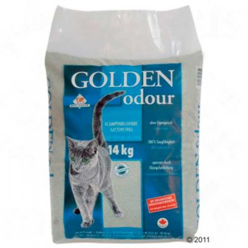 Arena aglomerante Golden Grey Odor 14kg