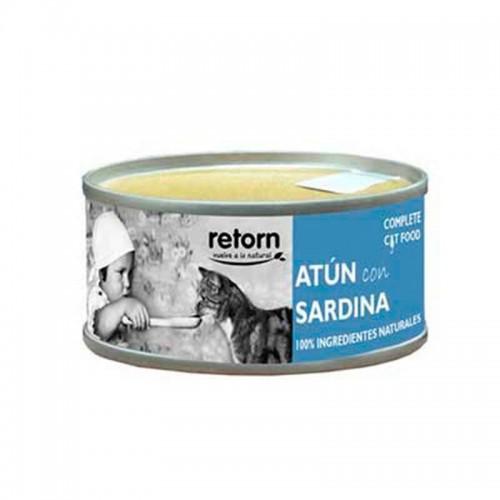 Retorn húmedo atún y sardinas para gatos