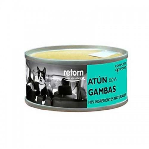 Alimento húmedo para gatos Retorn Atún con Gambas