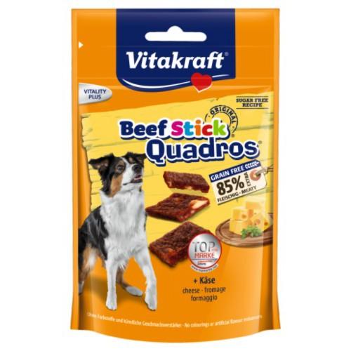 Vitakraft Quadros Beef Sticks con queso