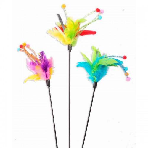Varita de juego con plumas Pawise