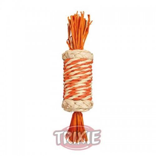 Juguete cuerda de paja para roer