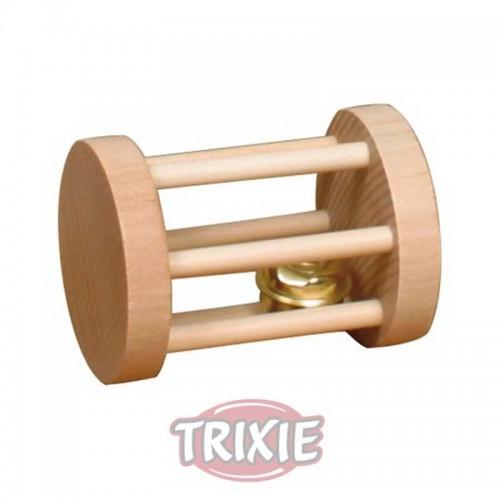 Cilindro madera con cascabel