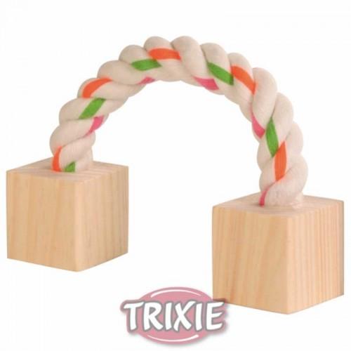 Cuerda con tacos de madera