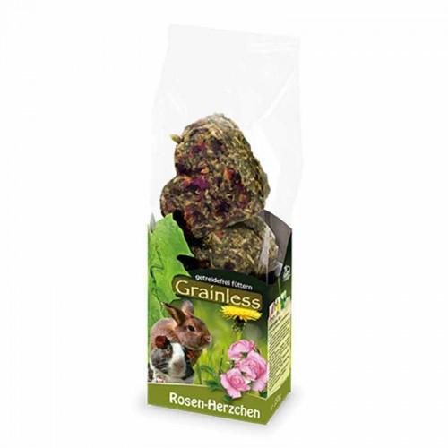 Corazones de heno y pétalos de rosas JR Farm