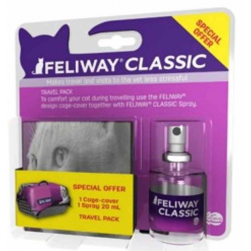 Feliway Spray 20ml + cubreasientos gratis!!