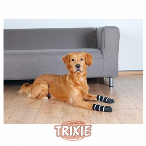 Calcetines antideslizantes negros perro