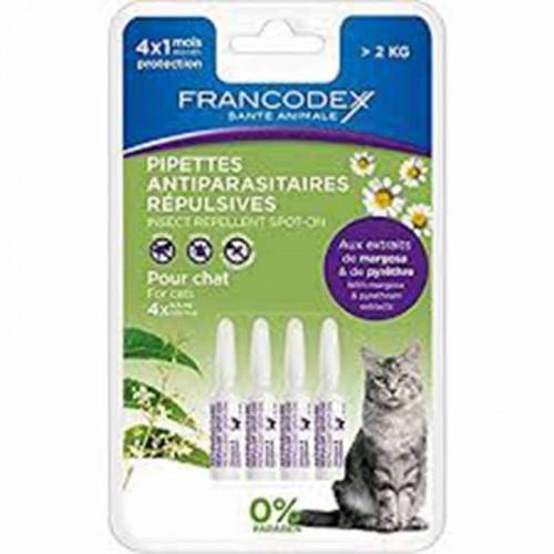 Pipetas naturales Francodex para gato