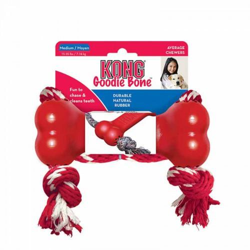 Kong Goodie Bone con cuerda XS