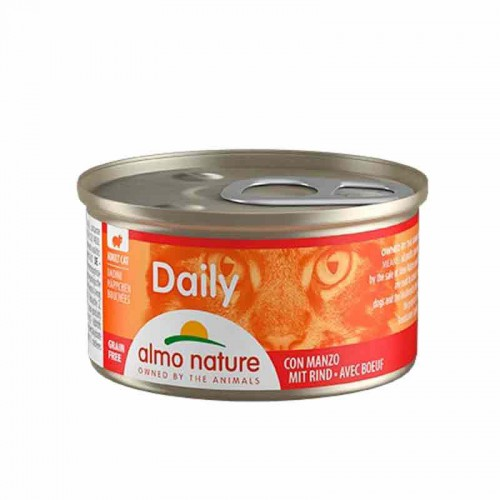 Almo Nature Cat PF Daily menú trocitos Pollo y Pavo Grain Free 85 gr
