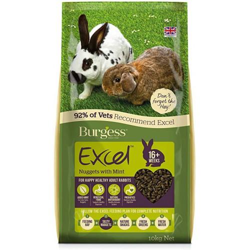 Burgess Excel conejo adulto con menta