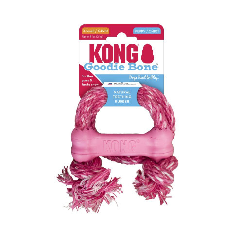 Kong Puppy Goodie Bone con cuerda